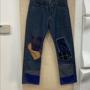 Worn once patchwork jeans